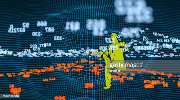 Finanzen und Börse Daten Diagramm