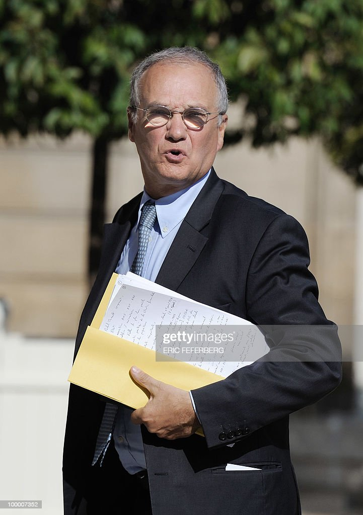 Finance commission's rapporteur of the French National Assembly Gilles Carrez arrives at the Elysee Palace on May 20, 2010 in Paris to attend a second meeting on public deficit with French President Nicolas Sarkozy. France reopened its 2010 budget to add in the 111 billion euros it has promised to contribute to Europe's new 750-billion-euro emergency stability fund, Finance Minister Christine Lagarde said yesterday.