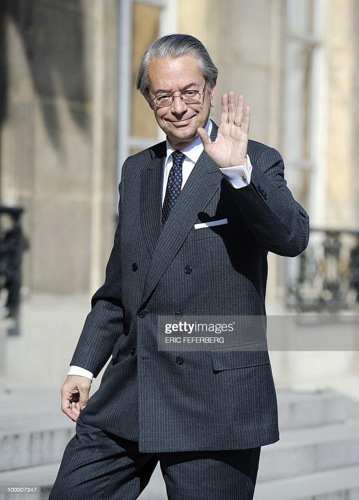 Finance commission's rapporteur of the French Senate Philippe Marini arrives at the Elysee Palace on May 20, 2010 in Paris to attend a second meeting on public deficit with French President Nicolas Sarkozy. France reopened its 2010 budget to add in the 111 billion euros it has promised to contribute to Europe's new 750-billion-euro emergency stability fund, Finance Minister Christine Lagarde said yesterday.