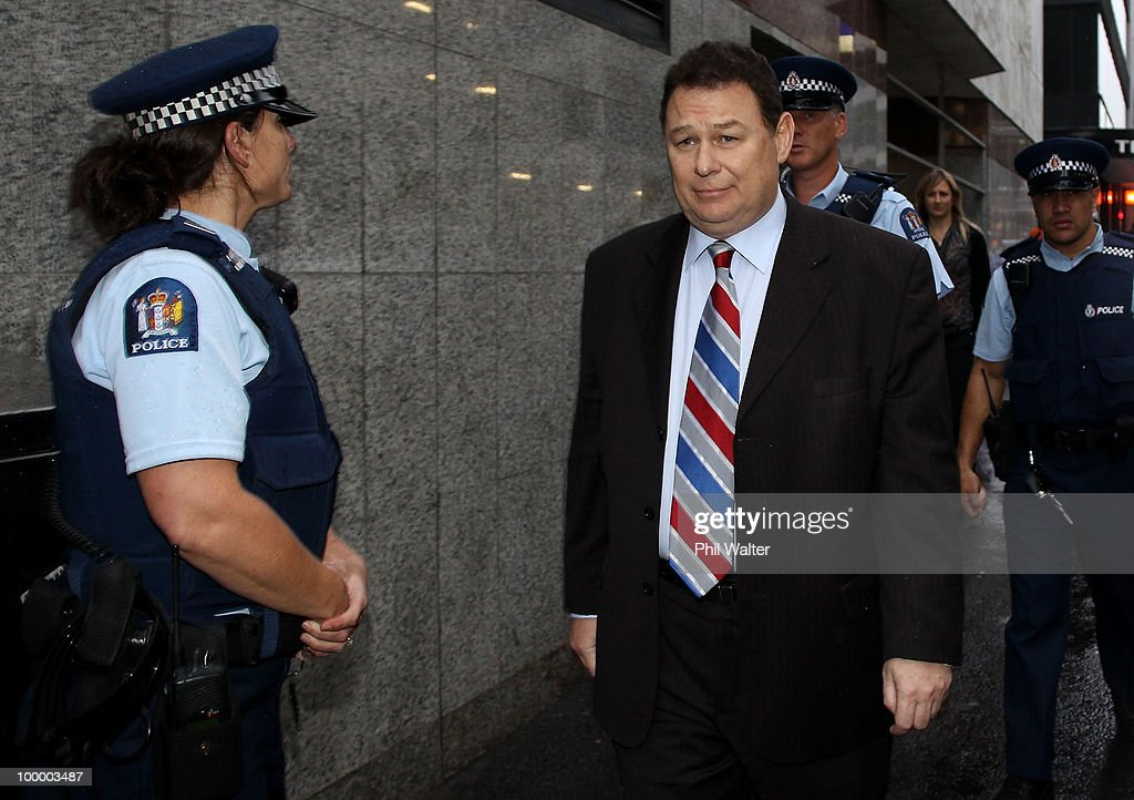 Finance company Blue Chip's founder Mark Bryers leaves the Auckland District Court on May 20, 2010 in Auckland, New Zealand. Bryers was today sentenced to 75 hours of community work and a fine of $37,500 plus court costs for 34 convictions for book- and record-keeping failures relating to the failed property investment firm.