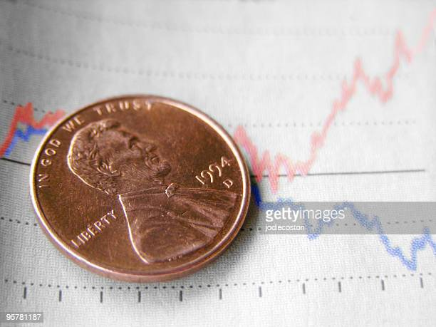 finance concept - us penny stock pictures, royalty-free photos & images