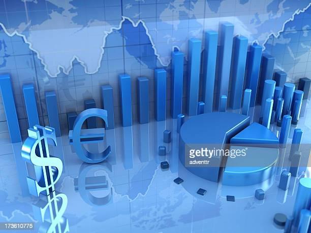 Concepto de finanzas y diagramas de negocios