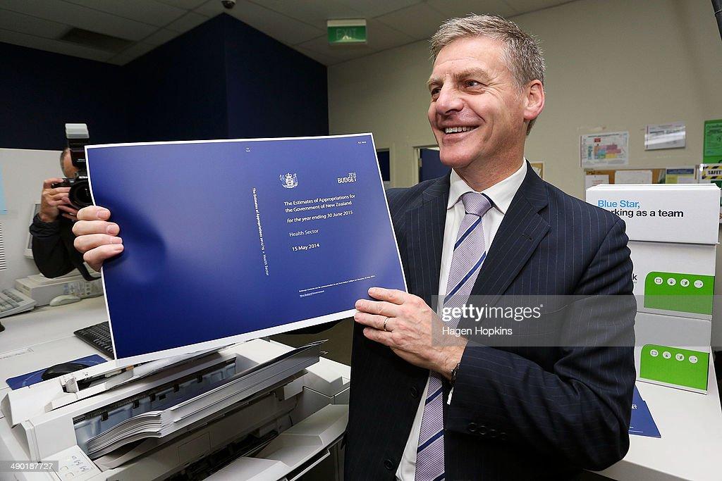 2014 New Zealand Budget Printed In Wellington : News Photo