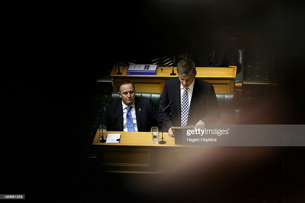 Bill English Presents New Zealand Budget : News Photo