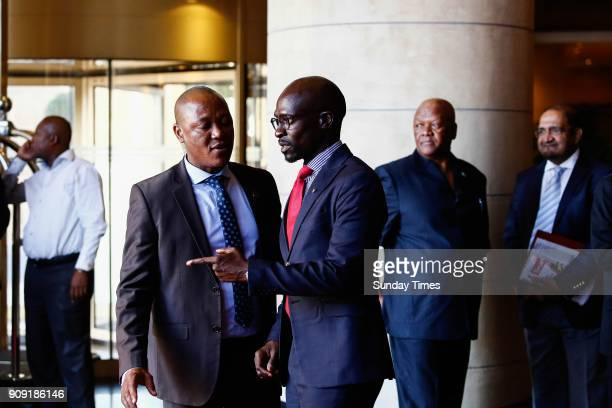 Finance Minister Malusi Gigaba during a preWorld Economic Forum breakfast briefing on January 18 2018 in Johannesburg South Africa Ramaphosa who will...