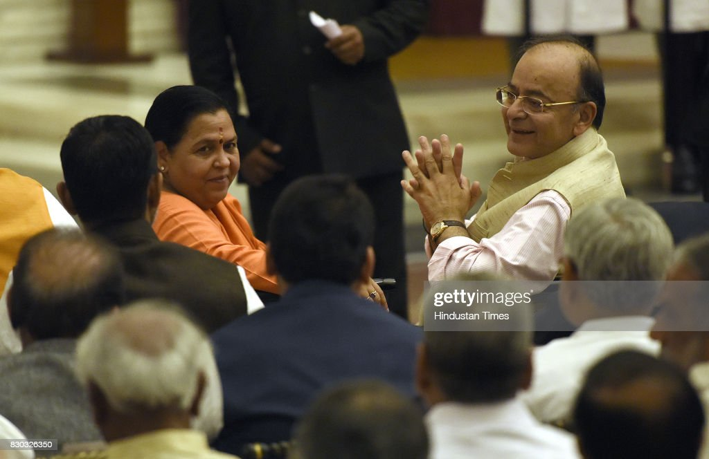 Finance Minister Minister of Defence and Minister of Corporate Affair Arun Jaitley and Minister for Water Resources River Development and Ganga...