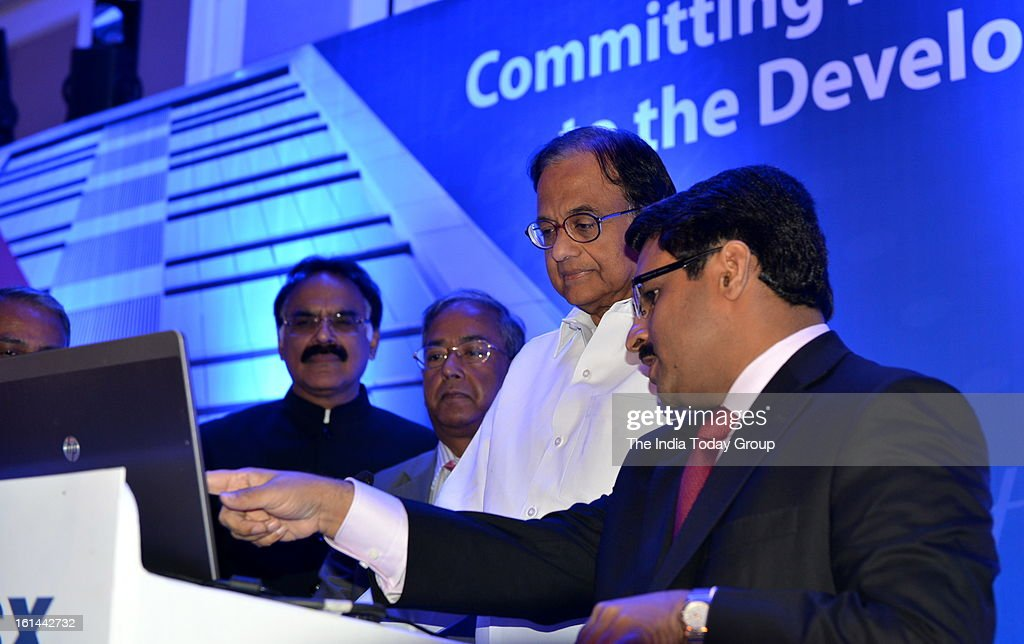 Finance Minister P. Chidambaram with Vice Chairman of MCX-SX, Jignesh Shah at the launch of the new stock exchange MCX-SX.