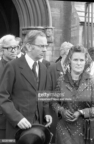 Finance Minister RichieTD and is wife at the Funeral Service held in St Patrick's Cathedral for the British Ambassador Christopher EwartBiggs who was...