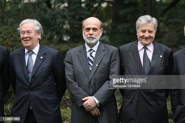 Finance Ministers' And Central Bank Governors' Meeting In Tokyo Japan On February 09 2008 British Central Bank Governor Mervyn King left US Federal...