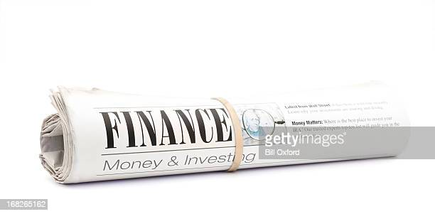 finance newspaper - rolled up stock pictures, royalty-free photos & images