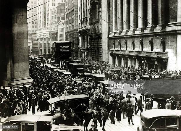 October 1929 Bewildered investors mill about at Wall Street New York after the Stock Market collapse on Black Friday