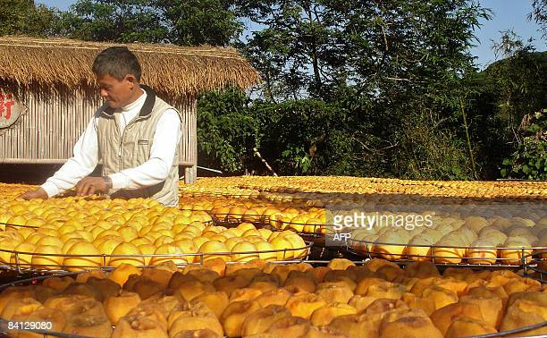 STORY 'FinanceeconomyTaiwanChinafoodFOCUS' by Benjamin Yeh A man arranges sundried persimmons in front of his farm house in Hsinpu northern Taiwan on...