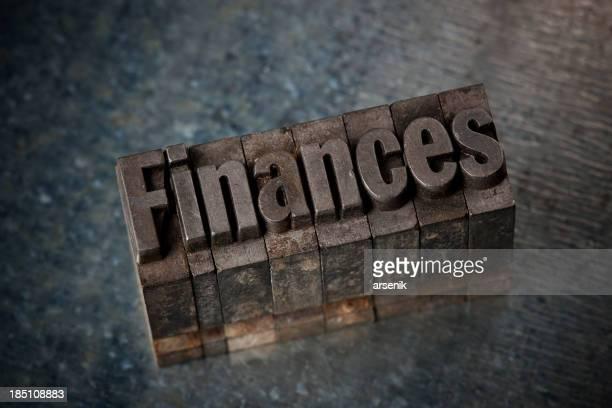 Finances In Letterpress Type