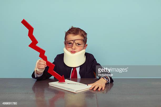 financial advisor boy is bankrupt - distressed stock market people stock pictures, royalty-free photos & images
