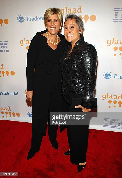 Financial advisor Suze Orman and Kathy Travis attend the 20th Annual GLAAD Media Awards at the Marriott Marquis on March 28 2009 in New York City