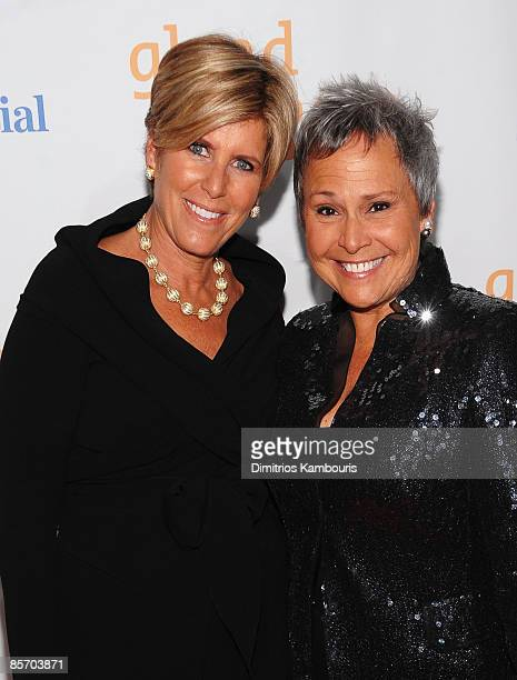 Financial advisor Suze Orman and partner Kathy Travis attend the 20th Annual GLAAD Media Awards at Marriott Marquis on March 28 2009 in New York City