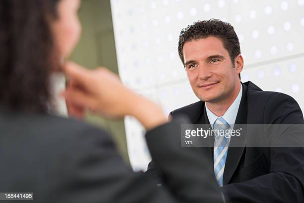 Financial Advisor Talking with His Client