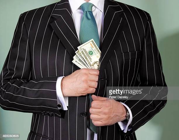 financial advisor with us currency - tax fraud stock-fotos und bilder