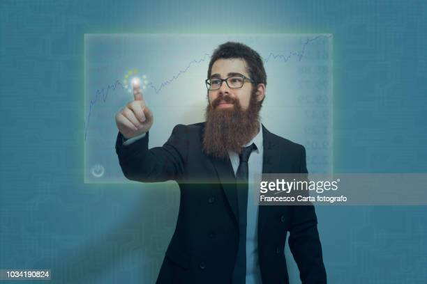 financial analyst, - hud graphical user interface stock photos and pictures