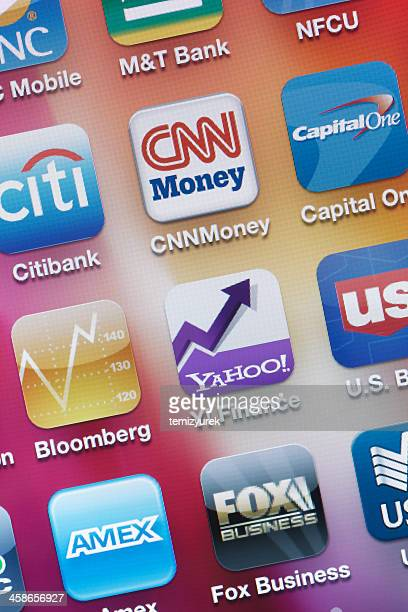 Financial Applications on iPhone screen