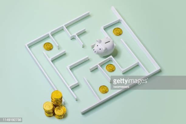 financial aspirational concept image. - atrapado conceptos fotografías e imágenes de stock