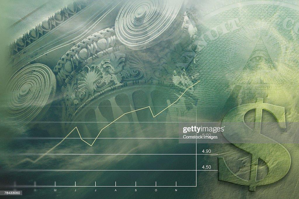 Financial background : Stockfoto