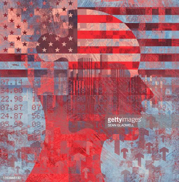 usa financial business illustration - politics abstract stock pictures, royalty-free photos & images