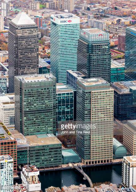 financial capital - canary wharf stock photos and pictures