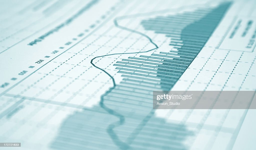 Financial chart : Stock Photo