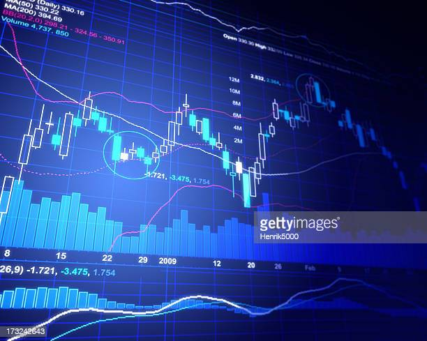 financial chart - give way stock pictures, royalty-free photos & images
