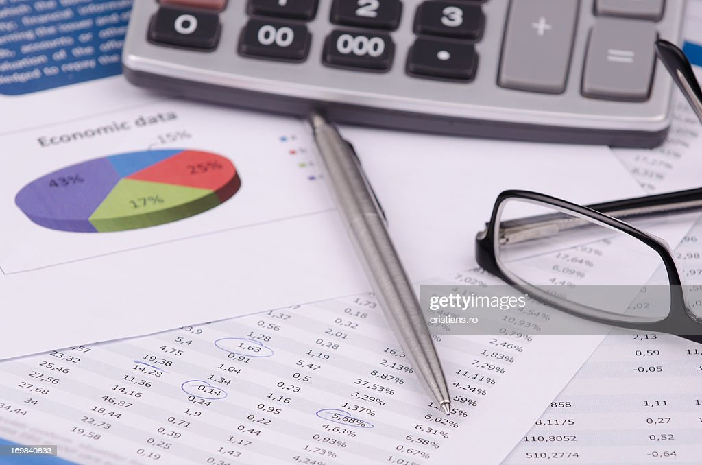 Financial, charts and numbers : Stock Photo