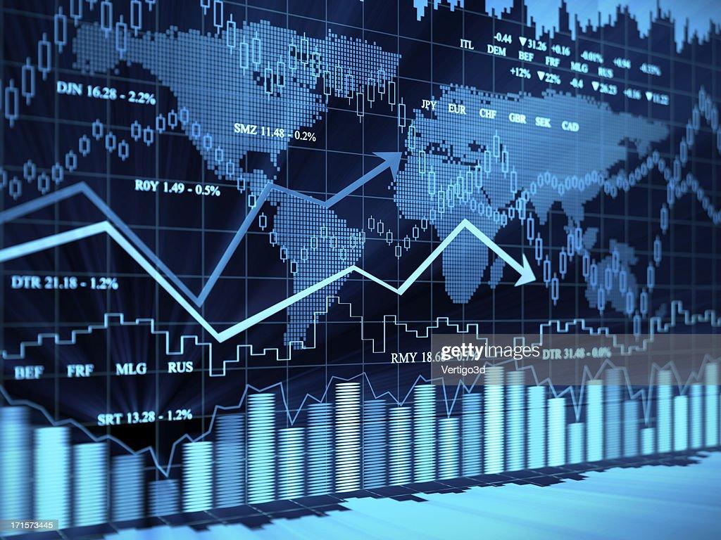 Financial charts : Stock Photo