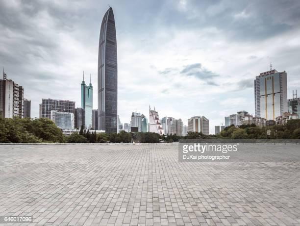 Financial city shenzhen and shenzhen skyline