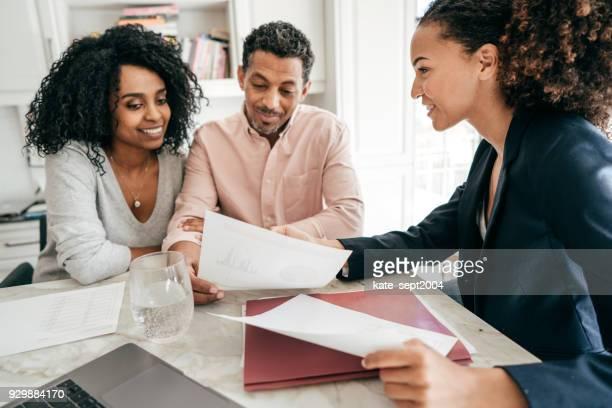 Finanzielle Beratung zu Hause