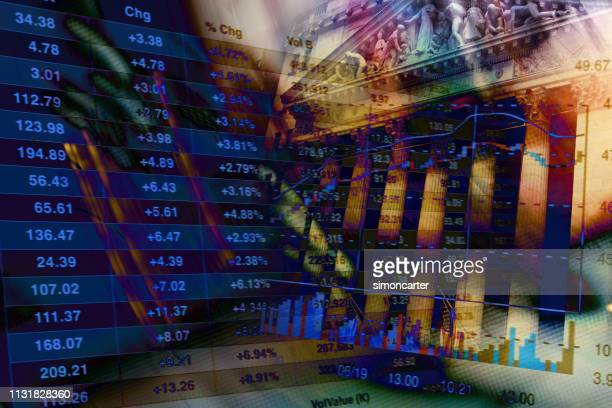 financial data on abtract background - new york stock exchange stock pictures, royalty-free photos & images
