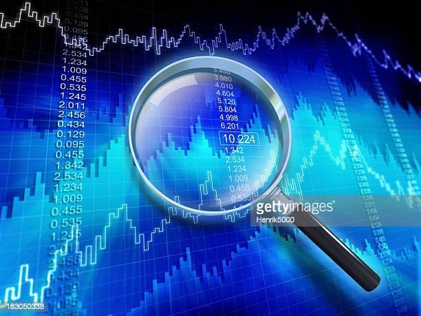 Os dados financeiros com lupa