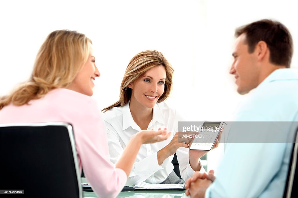 Financial Discussion : Stock Photo