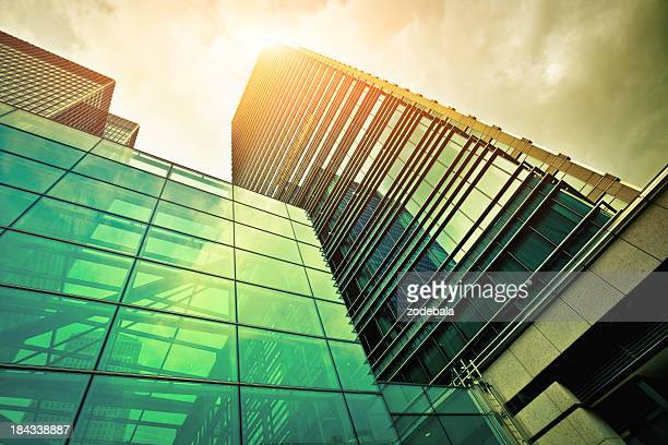 Financial District Glass Buildings, City of London