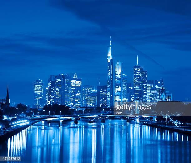 Finanzviertel in Frankfurt, Deutschland