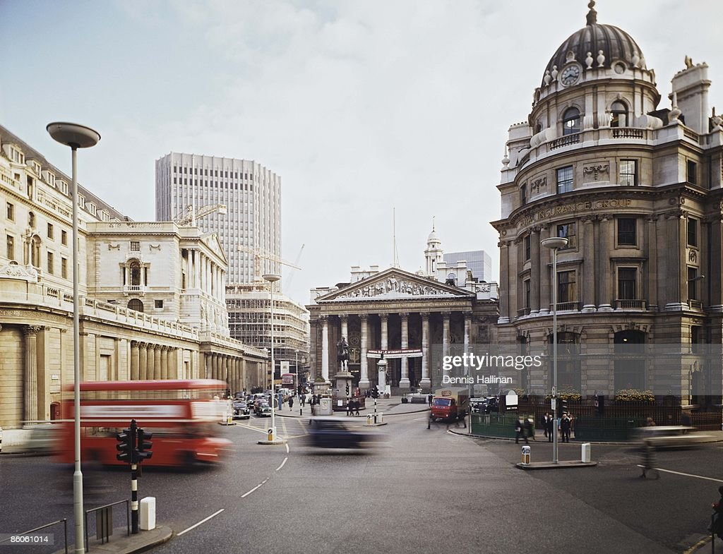 Financial district in London, England : Stock Photo