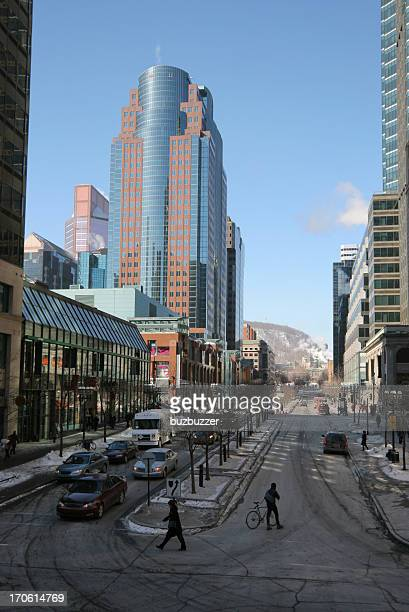 Financial district in Montreal City