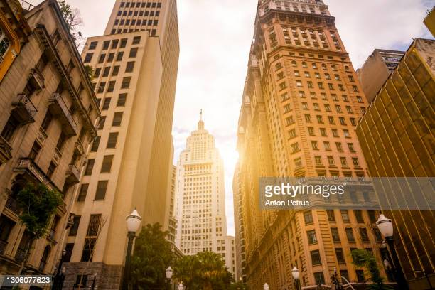financial district in sao paulo, brazil. - brazil stock pictures, royalty-free photos & images