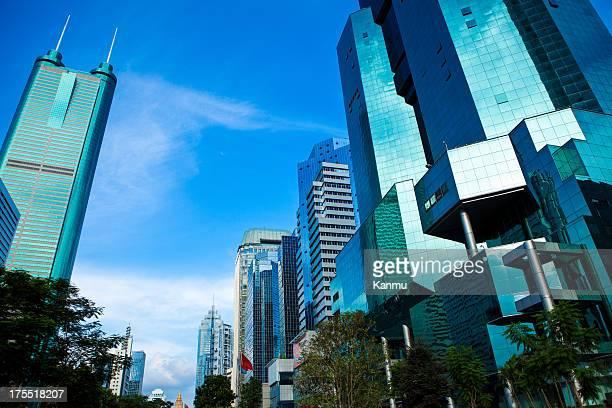 Finanzviertel in Shenzhen, China