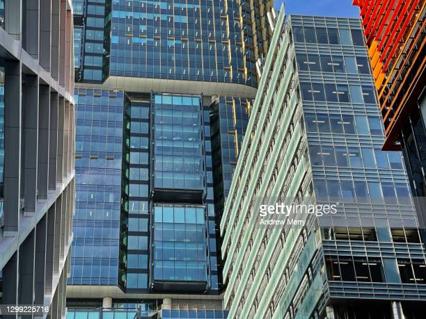 financial district, new corporate buildings in sydney, australia - darling harbour stock pictures, royalty-free photos & images