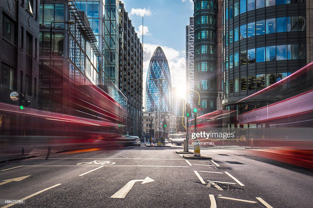Financial district of London : Stock Photo