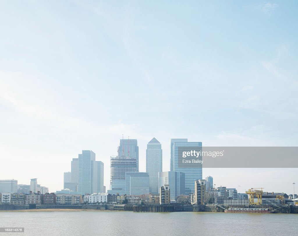 Financial District of London skyline. : Stock Photo