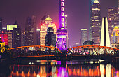 financial district of Shanghai , China