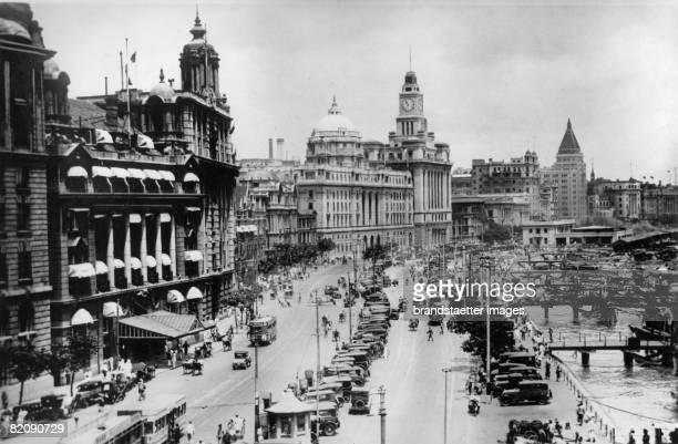 Financial district of the international concession of Shanghai China Photograph August 17th 1937 [Blick auf das Bankenviertel der internationalen...