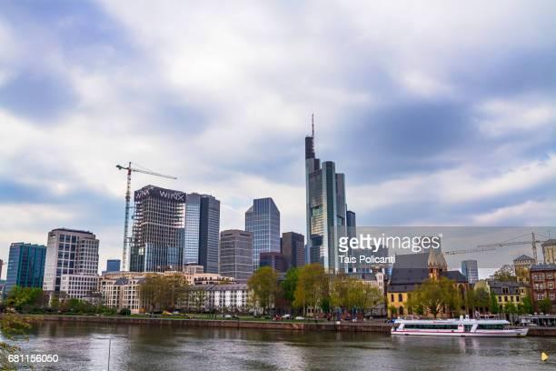 Financial District skyscrappers - Frankfurt, Hessen, Germany