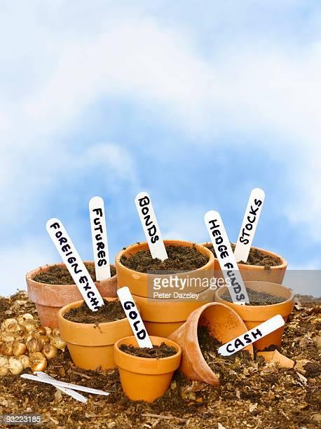 Financial flowerpots.